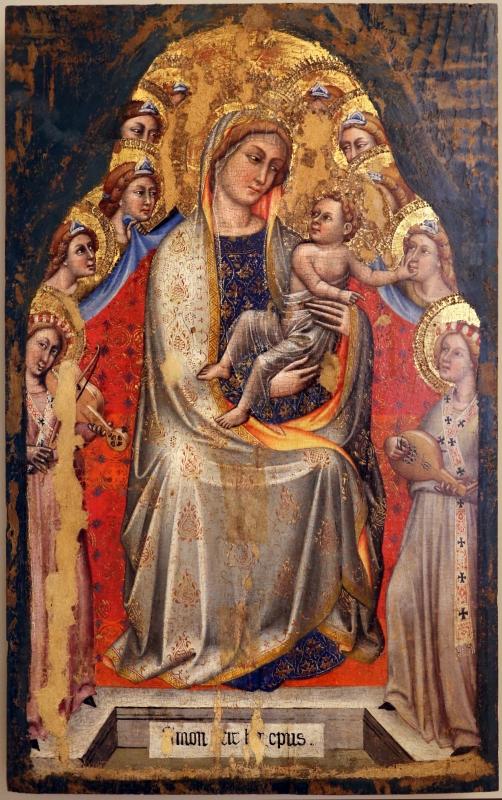 Simone dei crocifissi, madonna in trono col bambino e angeli, 1390-99 ca - Sailko - Modena (MO)