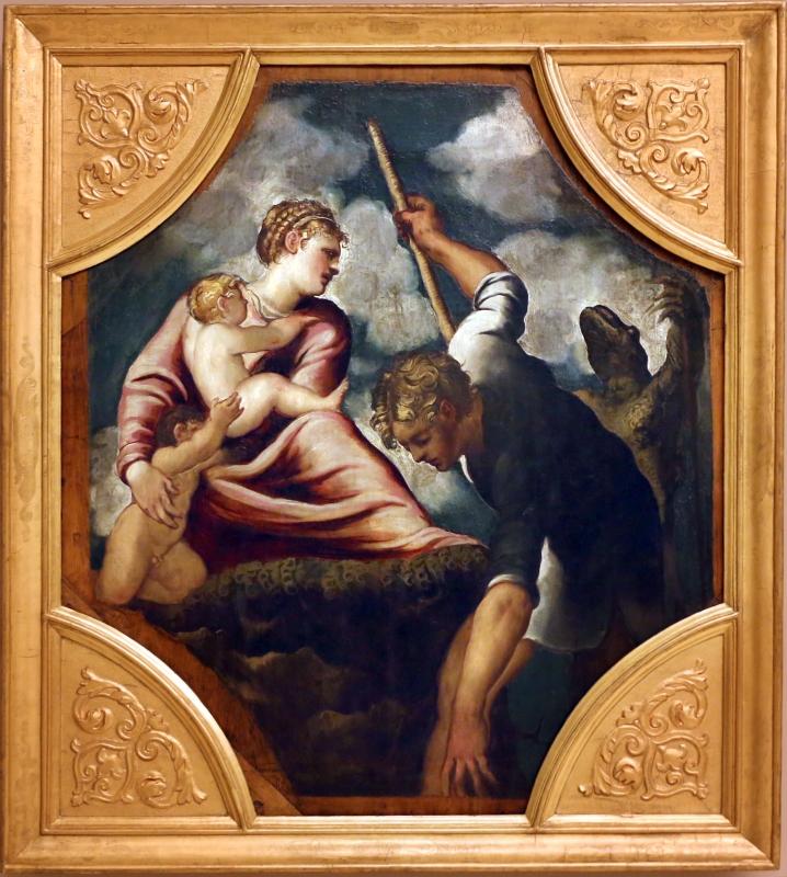 Tintoretto, tavole per un soffitto a palazzo pisani in san paterniano a venezia, 1541-42, latona trasforma i contadini della licia - Sailko - Modena (MO)