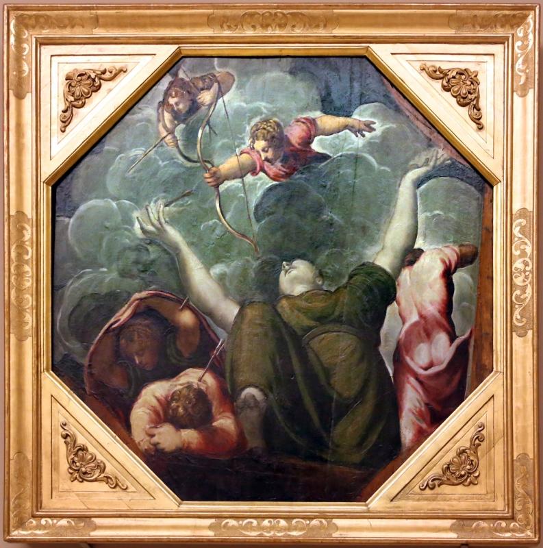 Tintoretto, tavole per un soffitto a palazzo pisani in san paterniano a venezia, 1541-42, strage dei figli di niobe - Sailko - Modena (MO)
