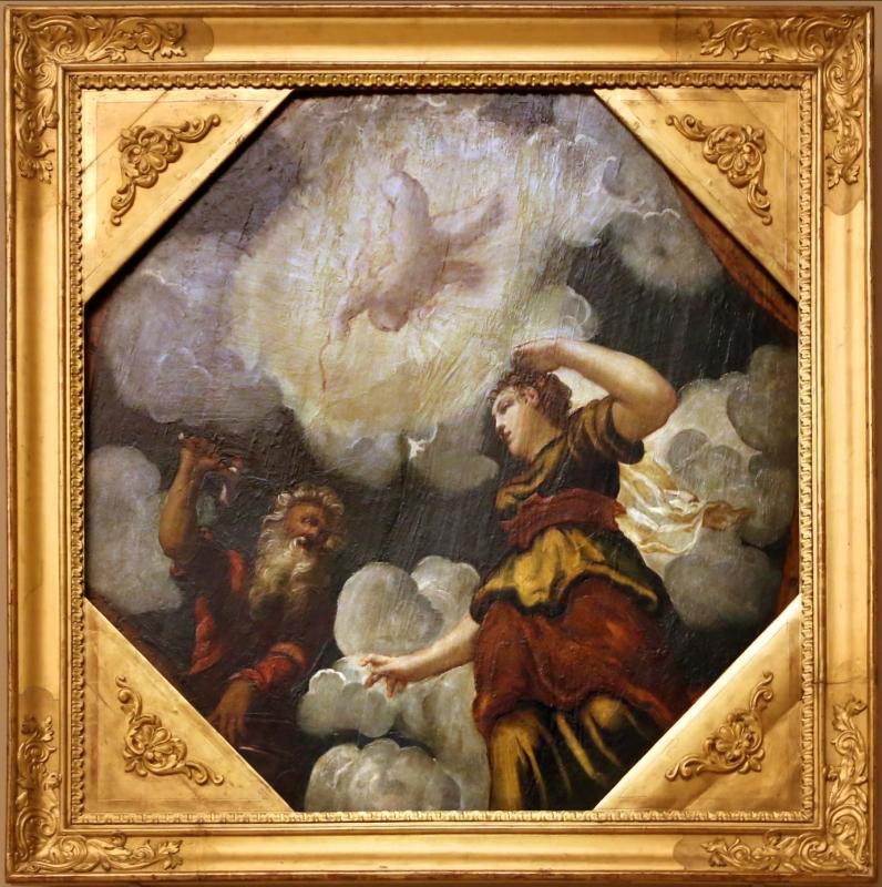 Tintoretto, tavole per un soffitto a palazzo pisani in san paterniano a venezia, 1541-42, vulcano, minerva e amore (nascita di erittonio) - Sailko - Modena (MO)