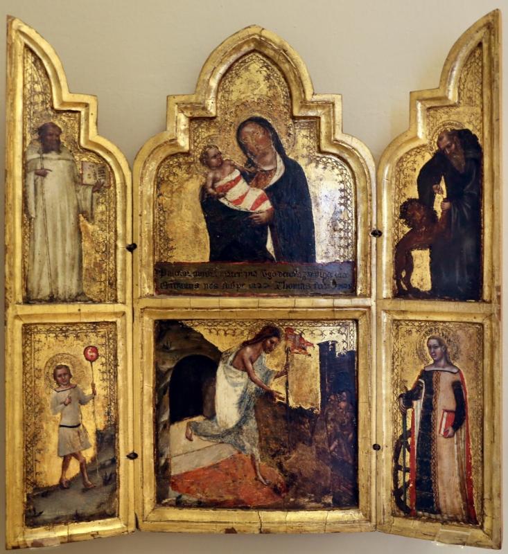 Tommaso barisini da modena, madonna col bambino, santi e scene della vita di cristo, 1345-55 ca. 01 - Sailko - Modena (MO)