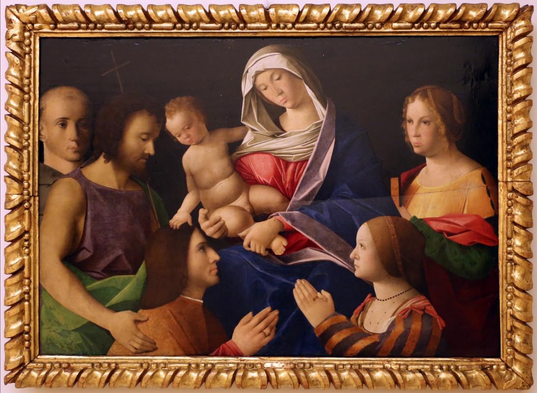 Vincenzo catena (attr.), madonna col bambino, santi e donatori, 1510 ca. 02 - Sailko - Modena (MO)