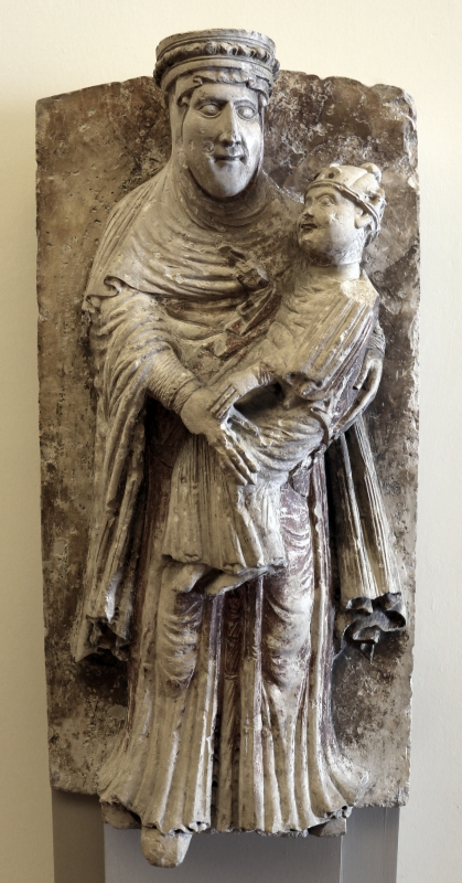Wiligelmo, madonna dei cattania, 1100-1120 ca., dalla sagra di carpi 01 - Sailko - Modena (MO)