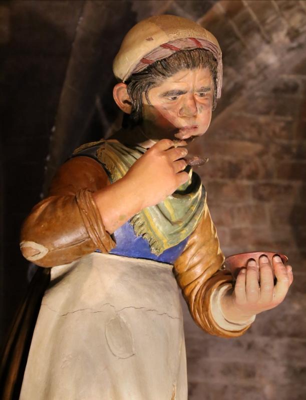 Guido mazzoni, madonna della pappa, 1480-85 ca. 03 fantesca - Sailko - Modena (MO)