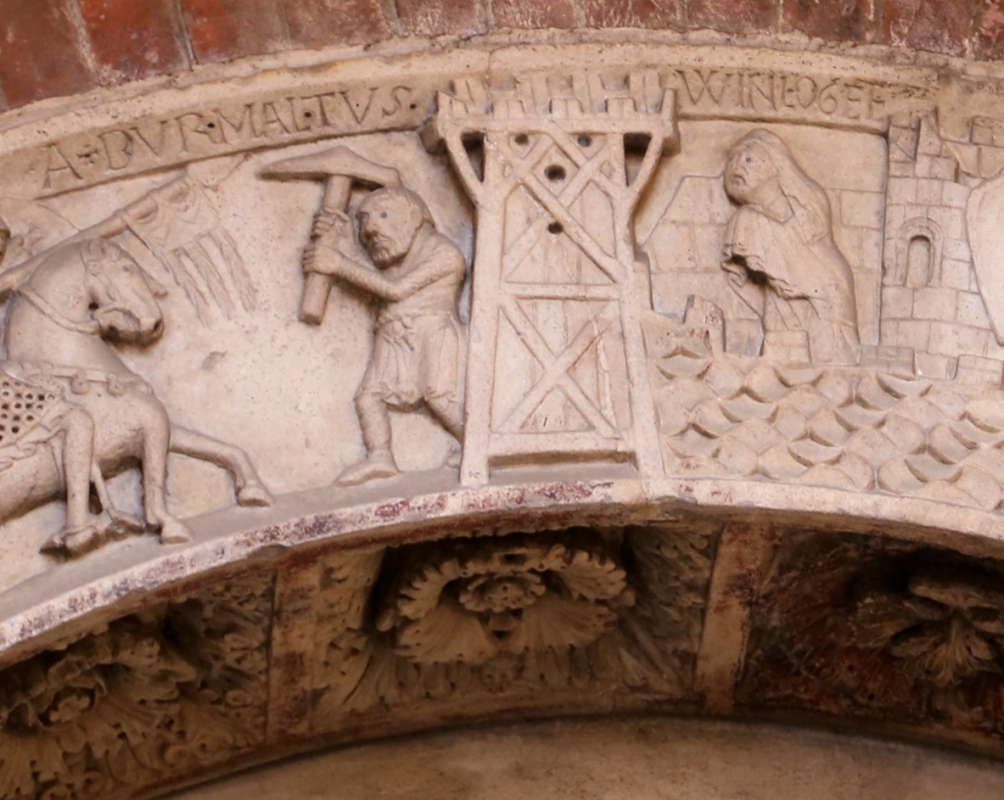 Ambito di wiligelmo, porta della pescheria, 02 ciclo di artù 03,1 - Sailko - Modena (MO)