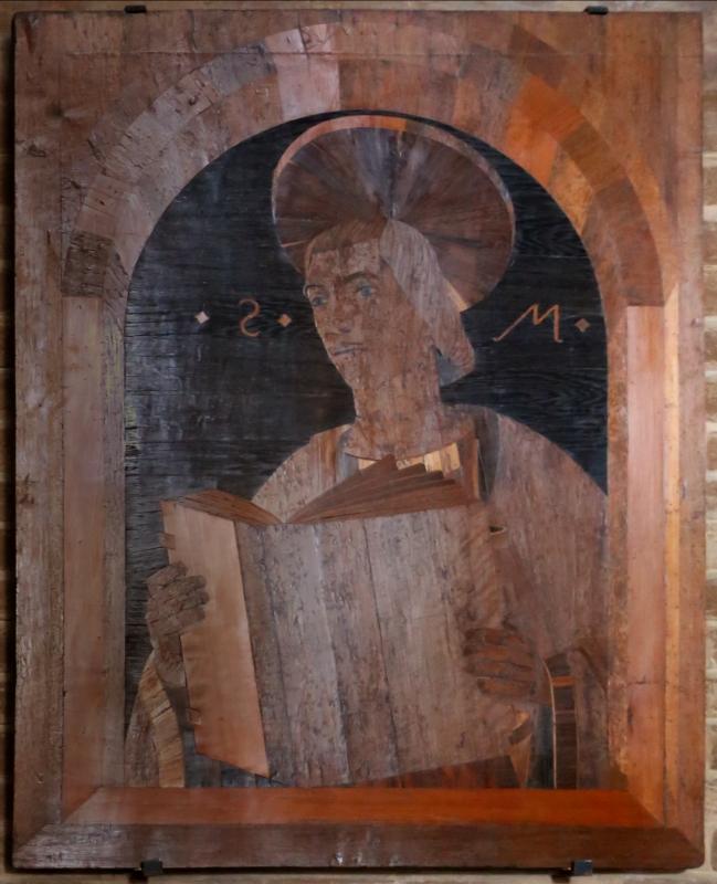 Cristoforo da lendinara, gli evangelisti, 1477, matteo - Sailko - Modena (MO)
