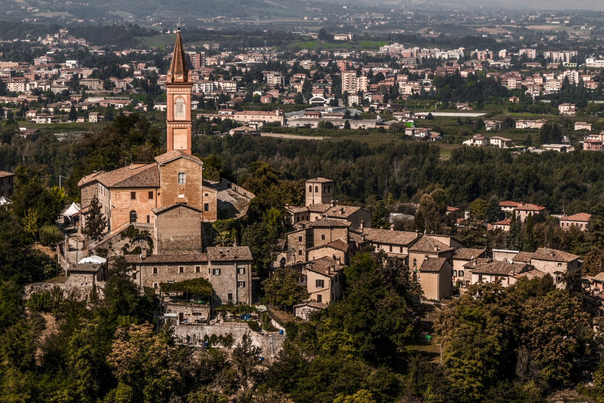 Panorama sul borgo antico e circondato dalle viti - Luca Nacchio - Savignano sul Panaro (MO)