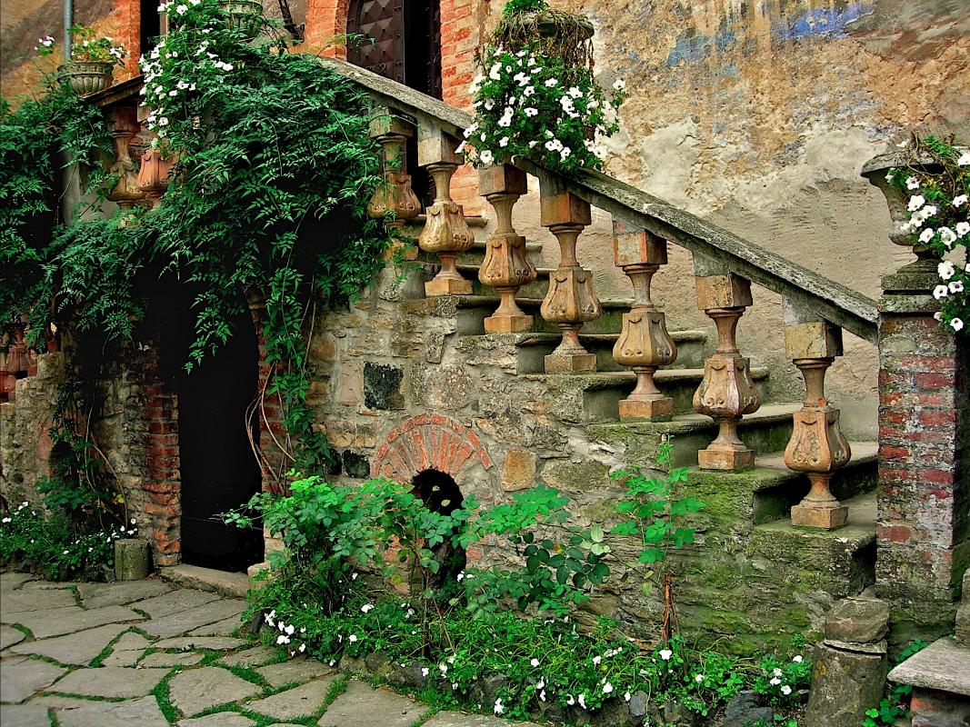 Castello di Gropparello - Scala piano nobile - Caba2011 - Gropparello (PC)