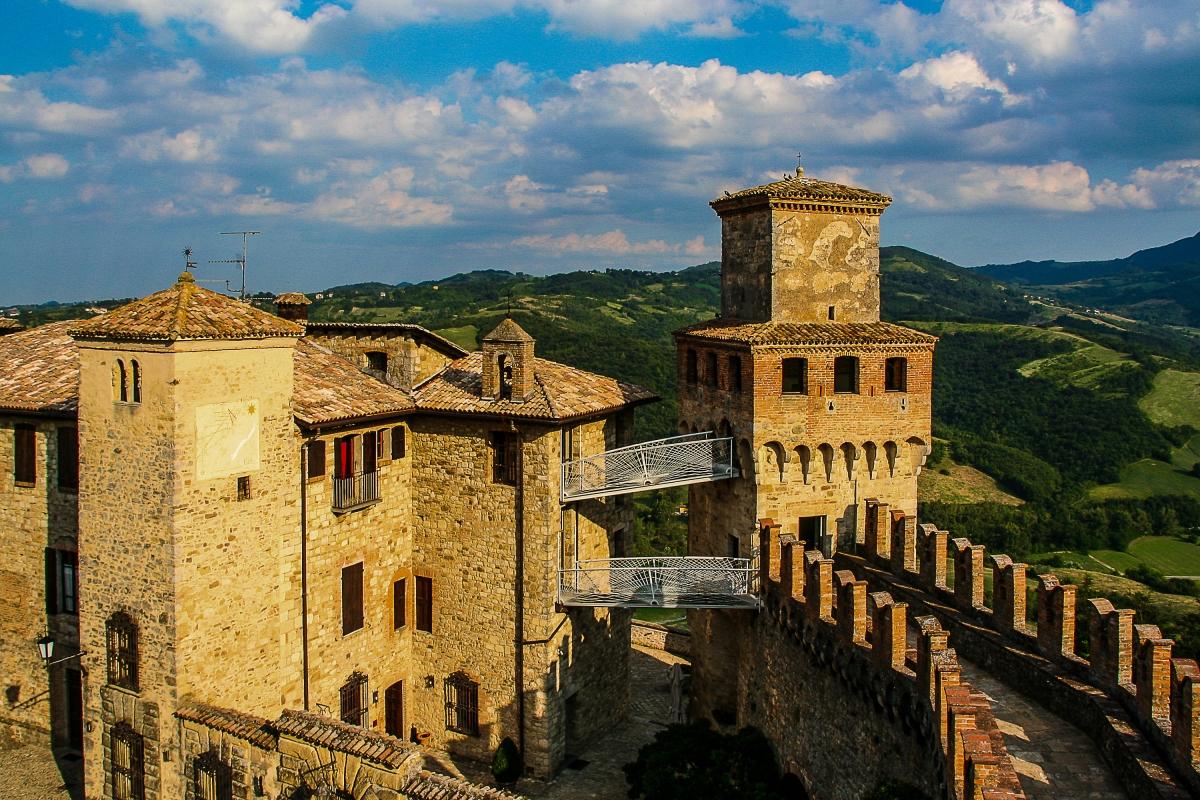 Panorama dalla torre - Giulosi - Vernasca (PC)