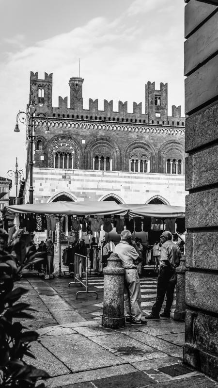 Palazzo Gotico dalla Piazza - Danila Corgnati - Piacenza (PC)