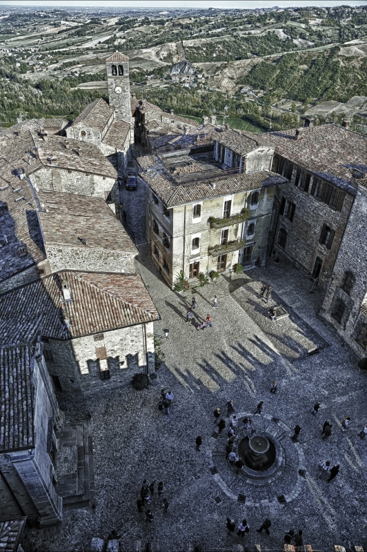 Borgo di Vigoleno dal Castello - Stefa-01 - Vernasca (PC)