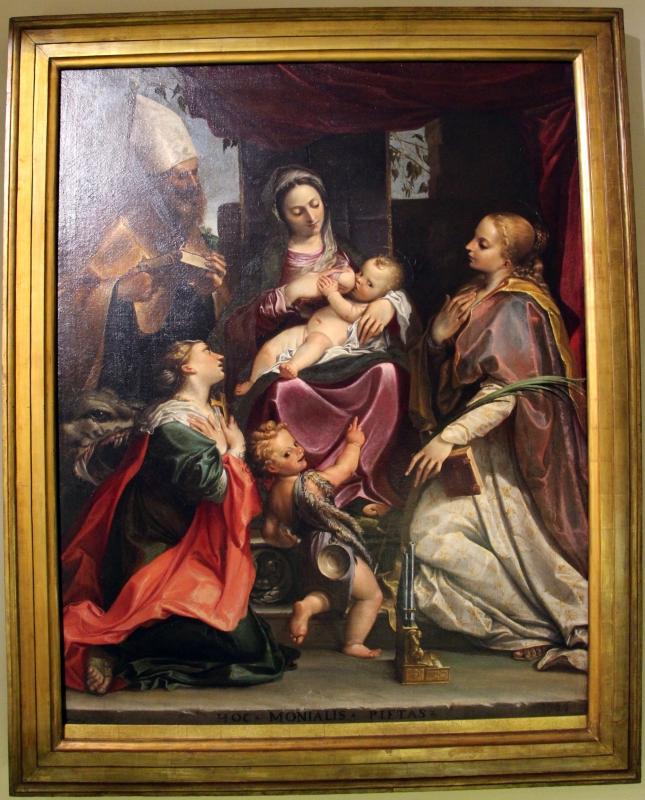 Agostino carracci, madonna col bambino e santi, 1586, da galleria nazionale di parma 01 - Sailko - Parma (PR)