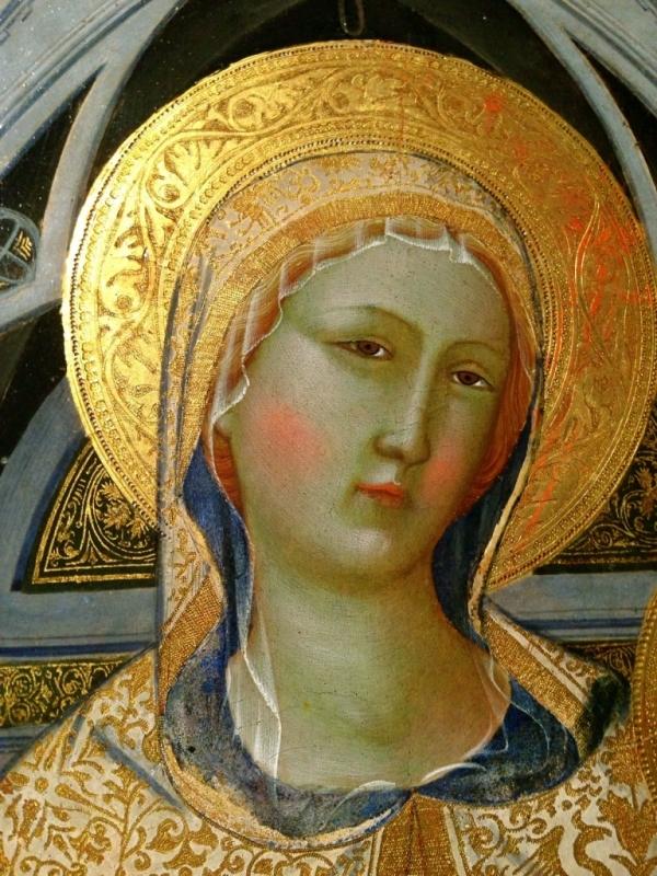Agnolo Gaddi Madonna con Bambino in trono a Santi - Waltre manni - Parma (PR)