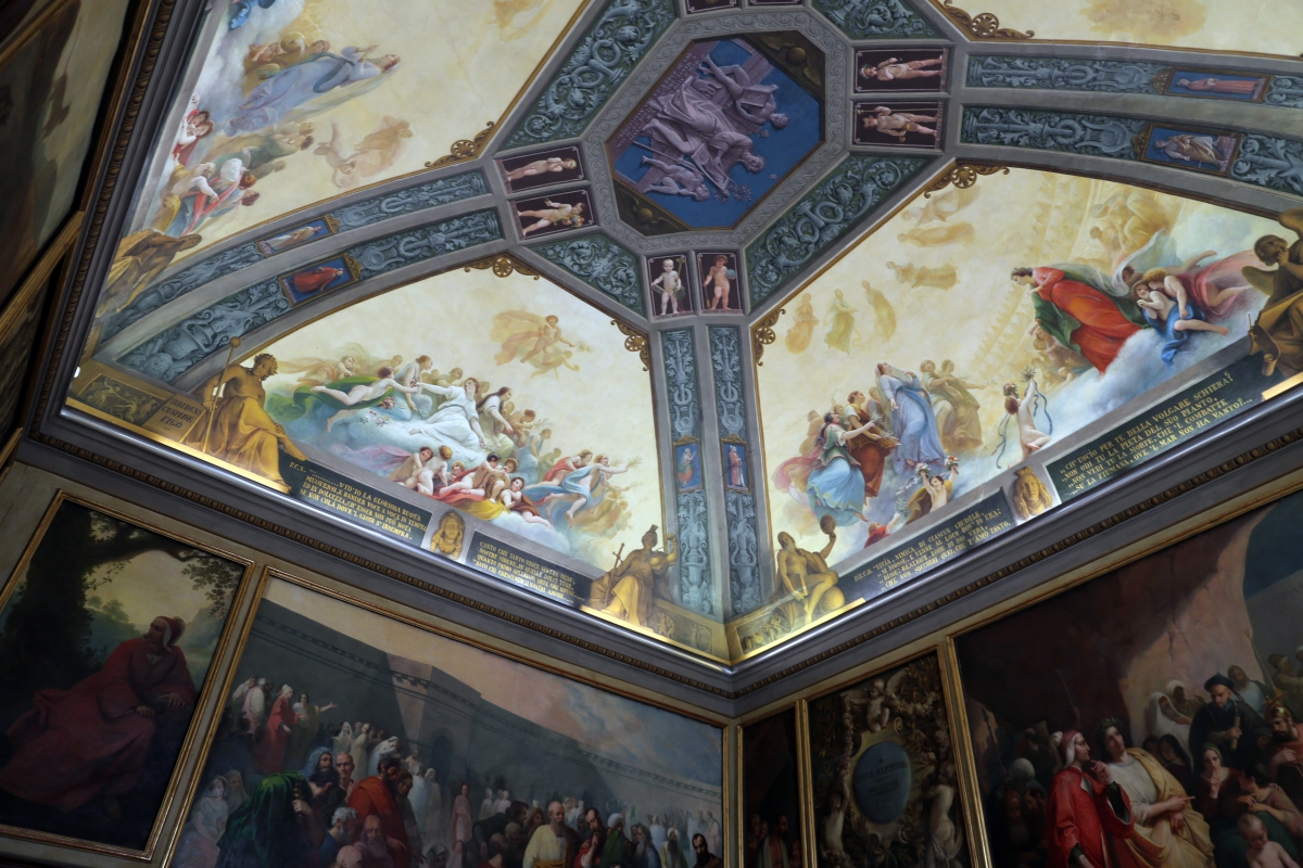 Parma, biblioteca palatina, sala di dante, decorata da francesco scaramuzza, 1843-57, 03 - Sailko - Parma (PR)