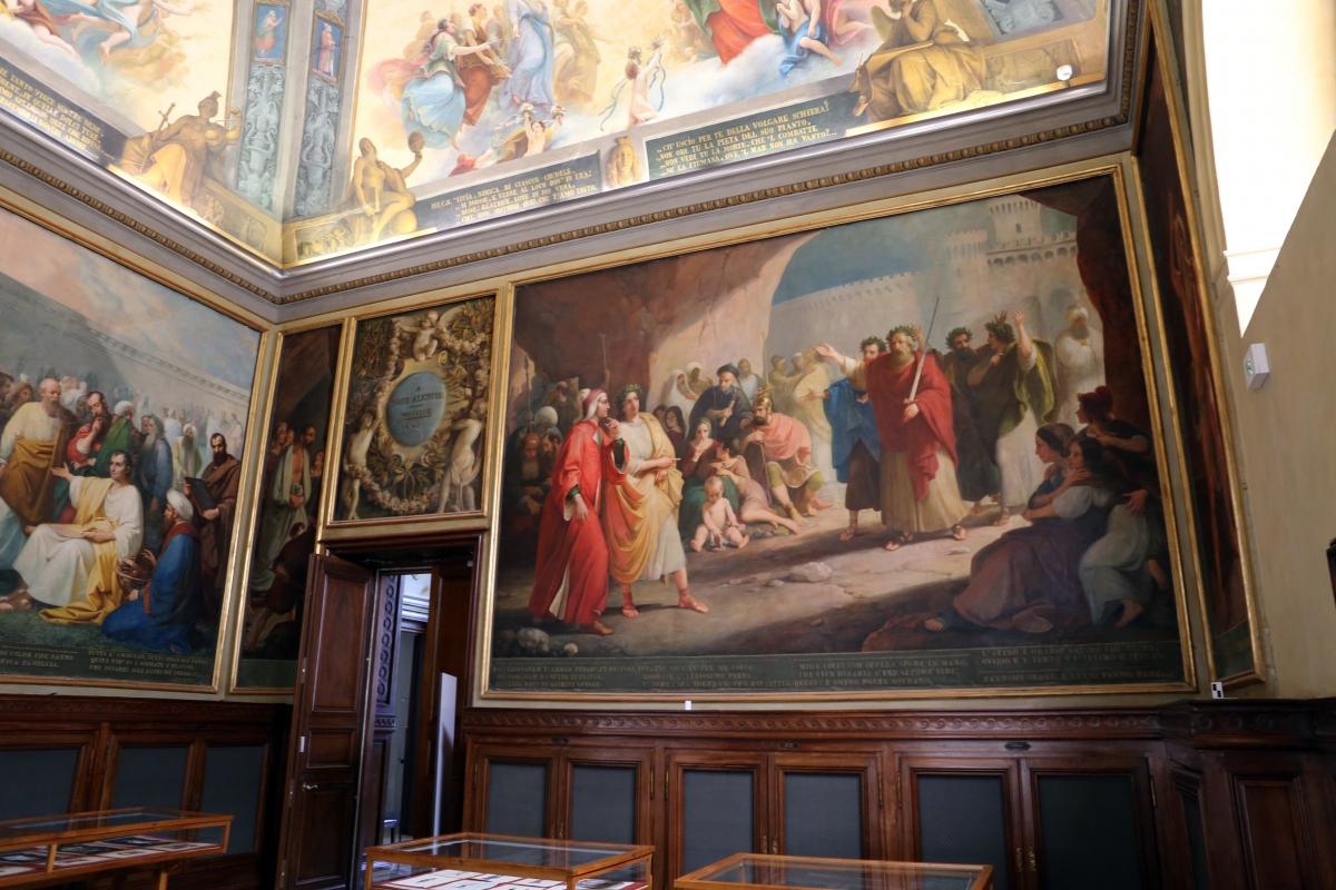 Parma, biblioteca palatina, sala di dante, decorata da francesco scaramuzza, 1843-57, 06 - Sailko - Parma (PR)