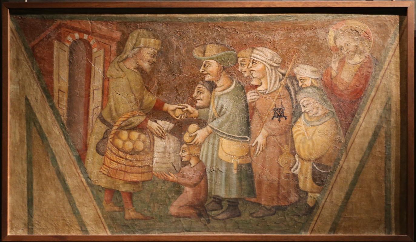 Scuola parmense, opere di misericordia, 1450 ca., sfamare gli affamati - Sailko - Parma (PR)