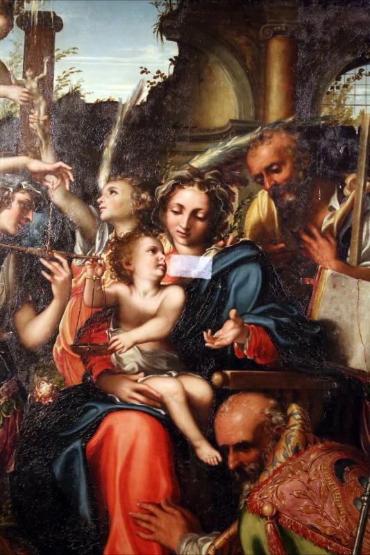 Giorgio gandini del grano, sacra famiglia con santi e angeli, 1534-35, 05 - Sailko - Parma (PR)