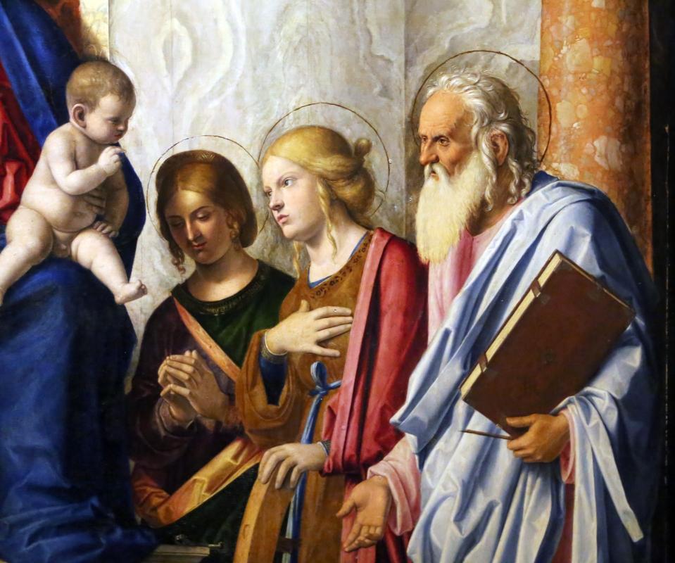 Cima da conegliano, sacra conversazione del duomo di prma, 1507 ca. 04 cterina d'a., apollonia e forse g. evangelista - Sailko - Parma (PR)
