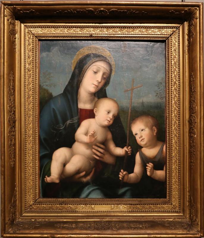 Francesco francia (bottega), madonna col bambino e san giovannino, 1510-20 ca - Sailko - Parma (PR)