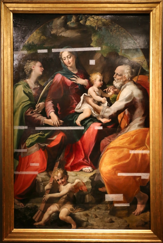 Michelangelo anselmi, sacra famiglia con santa barbara e un angelo, 1534, 01 - Sailko - Parma (PR)