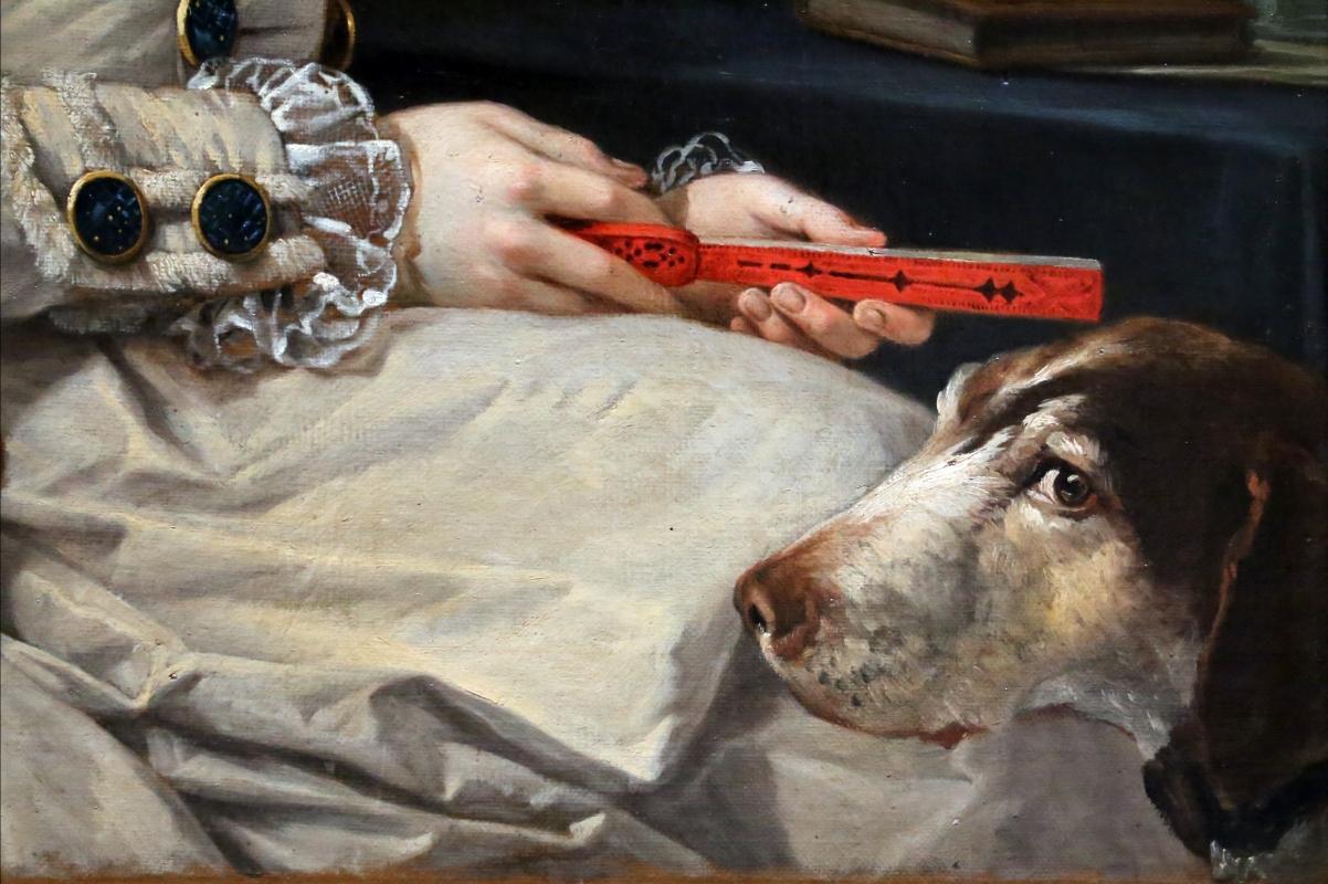 Johann zoffany, duchessa maria amalia d'austria, 02 ventaglio e cane - Sailko - Parma (PR)