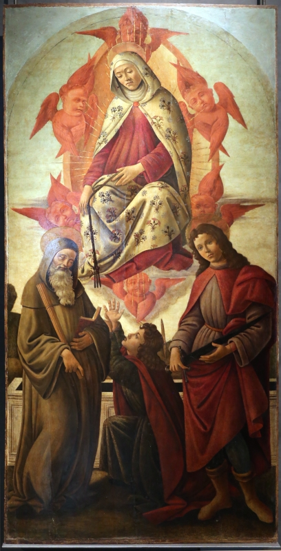 Ambito del botticelli, assunzione della vergine coi ss. benedetto, tommaso e giuliano, 1500-10 ca - Sailko - Parma (PR)