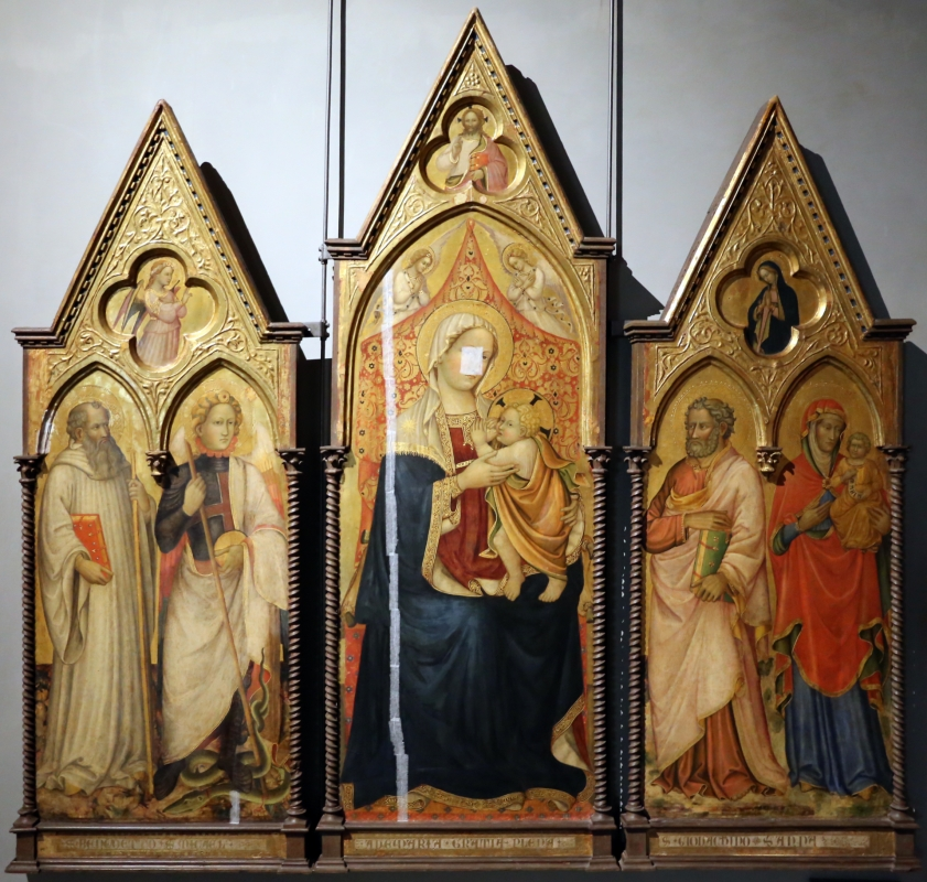 Maestro di san davino (pisa e lucca), madonna col bambino e santi, 1400-20 ca - Sailko - Parma (PR)