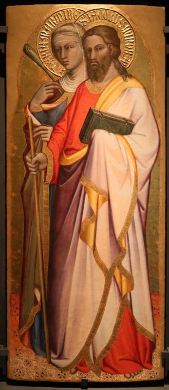 Spinello aretino, ss. daria e jacopo, 1380-85 ca - Sailko - Parma (PR)