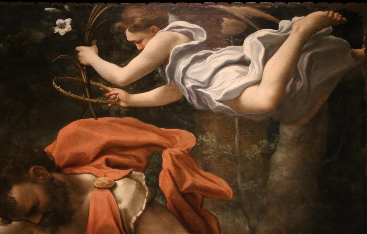 Correggio, martirio dei ss. placido, flavia, eutichio e vittorino, 1524 ca. 06 angelo - Sailko - Parma (PR)