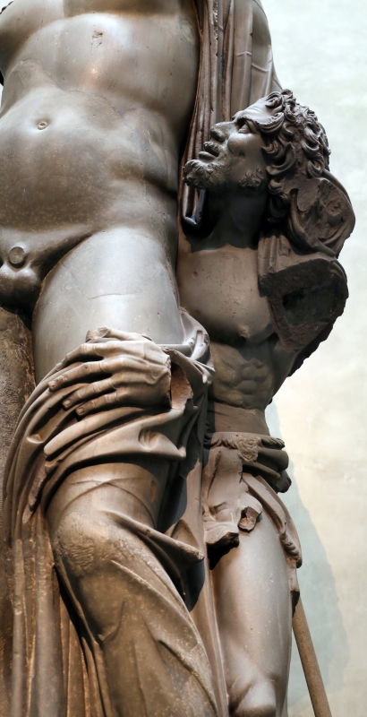 Arte romana, bacco con fauno in basanite, dagli orti farnesiani sul palatino, II secolo dc. 02 - Sailko - Parma (PR)