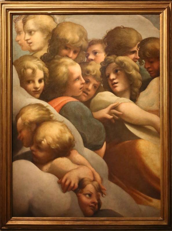 Annibale e agostino carracci (attr.), gruppi di angeli (da correggio), 1590 ca. 02 - Sailko - Parma (PR)