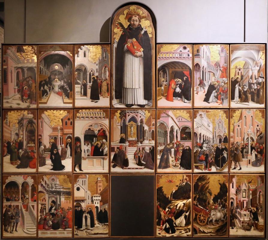 Agnolo e bartolomeo degli erri, polittico di san pietro martire, 1460-90 ca., da s. domenico a modena, 01 - Sailko - Parma (PR)