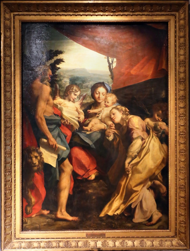 Correggio, madonna di san girolamo, o il giorno, 1528 ca. 01 - Sailko - Parma (PR)