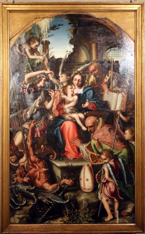 Giorgio gandini del grano, sacra famiglia con santi e angeli, 1534-35, 01 - Sailko - Parma (PR)
