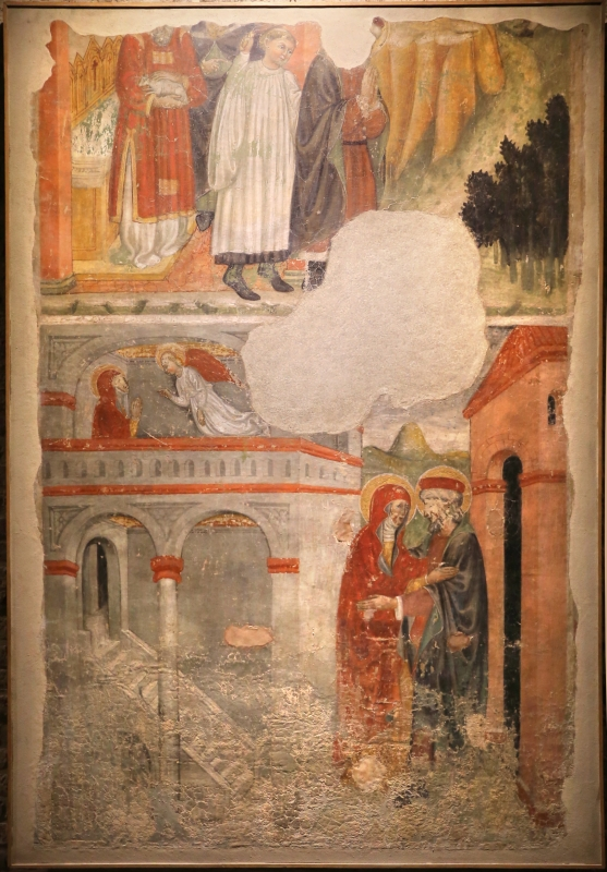 Jacopo loschi, cacciata di gioacchino, annuncio ad anna e incontro alla porta aurea, 1460-70 ca., dall'ex-chiesa del carmine a parma - Sailko - Parma (PR)