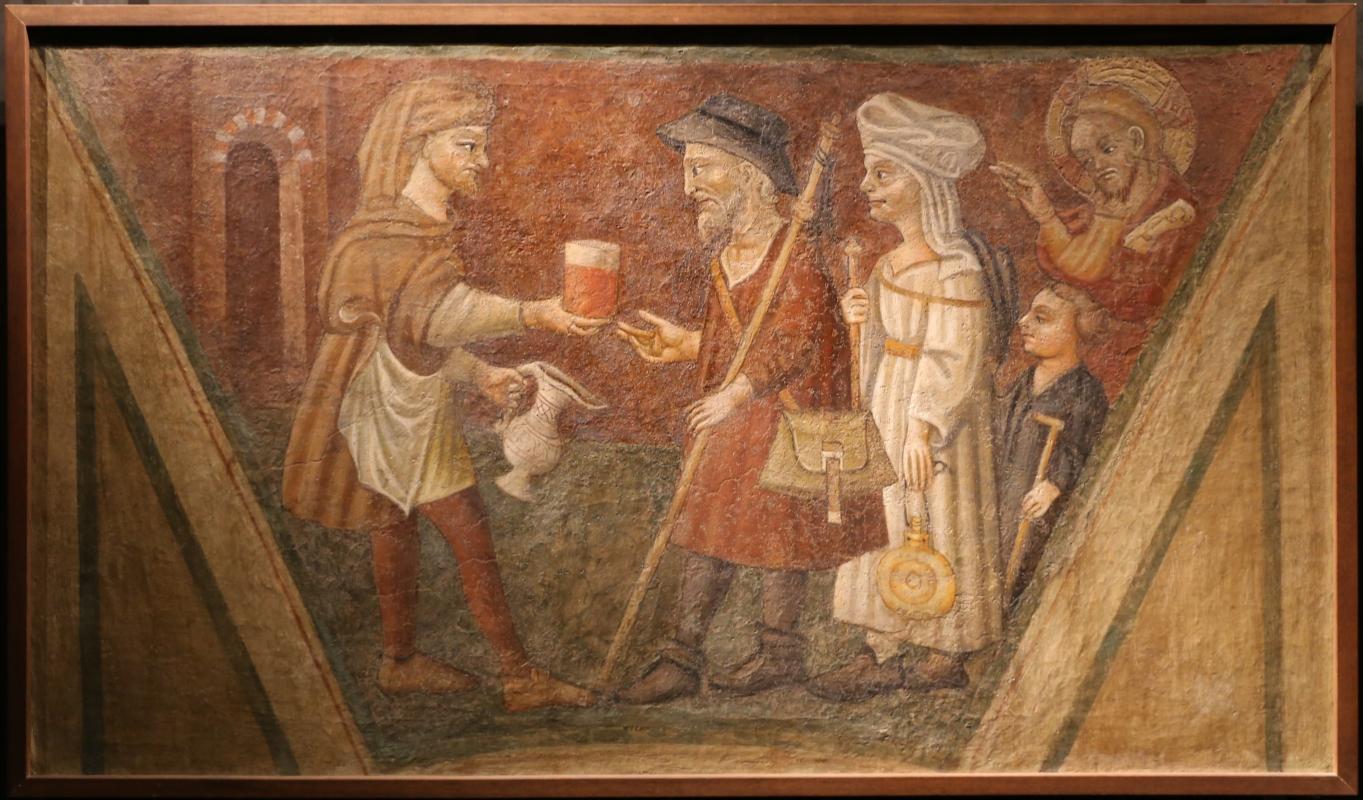 Scuola parmense, opere di misericordia, 1450 ca., dar da bere agli assetati - Sailko - Parma (PR)