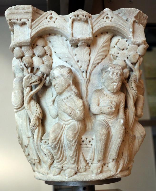 Benedetto antelami, capitello con storie della genesi 01, dal duomo di parma, 1178, tentazione di eva - Sailko - Parma (PR)