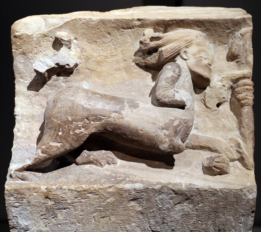 Lapicida padano, mensola con centauro che scocca una freccia, 1100-1150 ca - Sailko - Parma (PR)