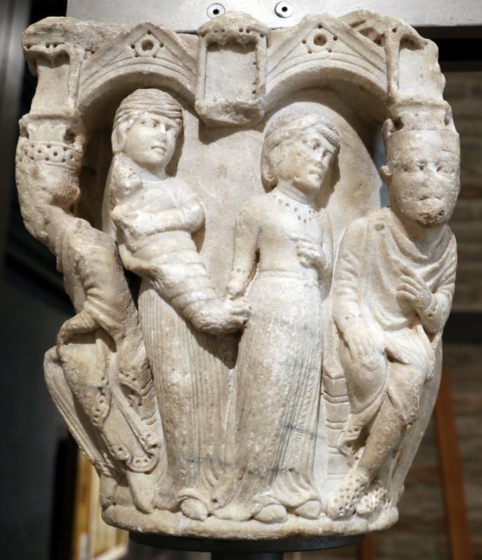 Benedetto antelami, capitello con storie bibliche, dal duomo di parma, 1178, giudizio di salomone - Sailko - Parma (PR)