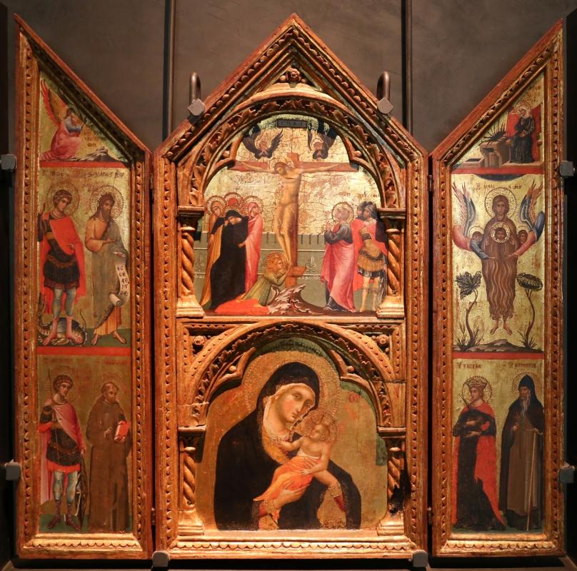 Paolo veneziano, altarolo con crocifissione, annunciazione, madonna col bambinoe santi, 1330-40 ca. 01 - Sailko - Parma (PR)