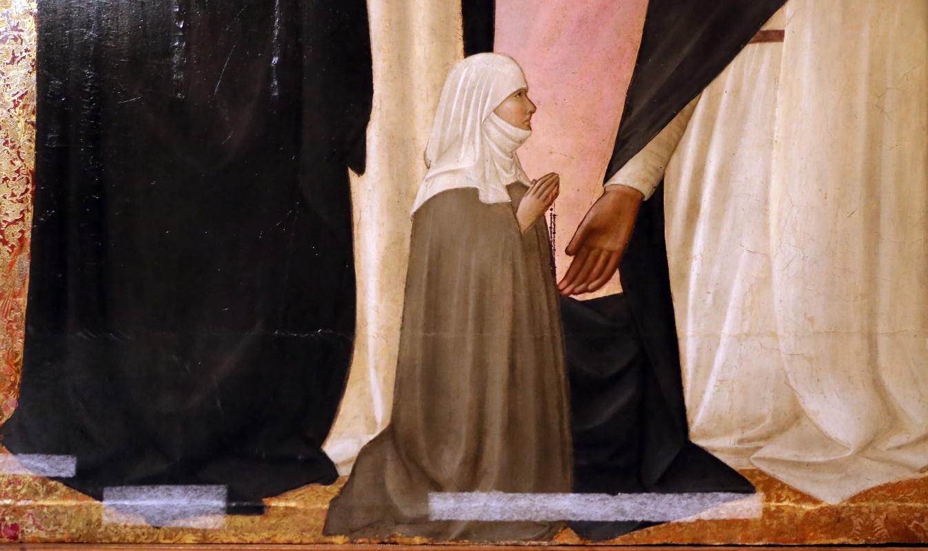 Agnolo gaddi, madonna in trono e santi, 1375, da s.m. novella qa firenze, 03 committente - Sailko - Parma (PR)