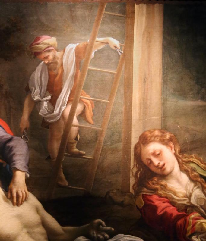 Correggio, compianto sul cristo morto, 1524 ca. 05 scala - Sailko - Parma (PR)