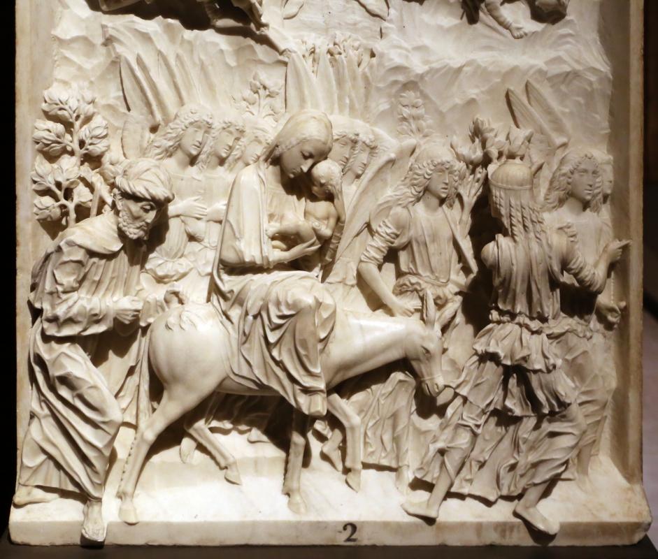 Giovanni antonio amadeo (ambito), fuga in egitto, 1475-1500 ca., da certosa di parma, 06 - Sailko - Parma (PR)