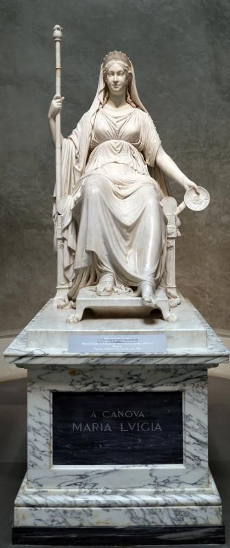Antonio canova, maria luigia d'asburgo in veste di concordia, 1810-14, 01 - Sailko - Parma (PR)