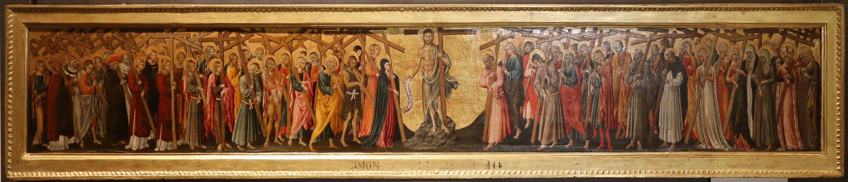 Giovanni di paolo, cristo e santi portacroce, 01 - Sailko - Parma (PR)