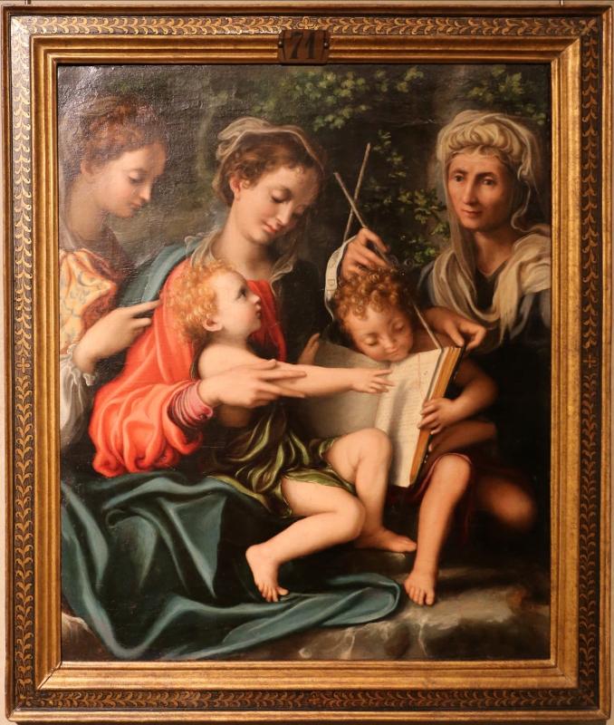Giorgio gandini del grano, madonna col bambino, san giovannino e le ss. maddalena ed elisabetta, 1527 ca - Sailko - Parma (PR)