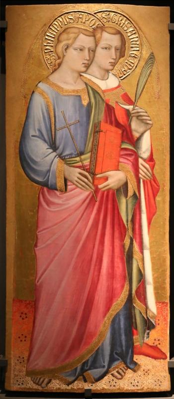 Spinello aretino, ss. filippo e grisante, 1380-85 ca - Sailko - Parma (PR)