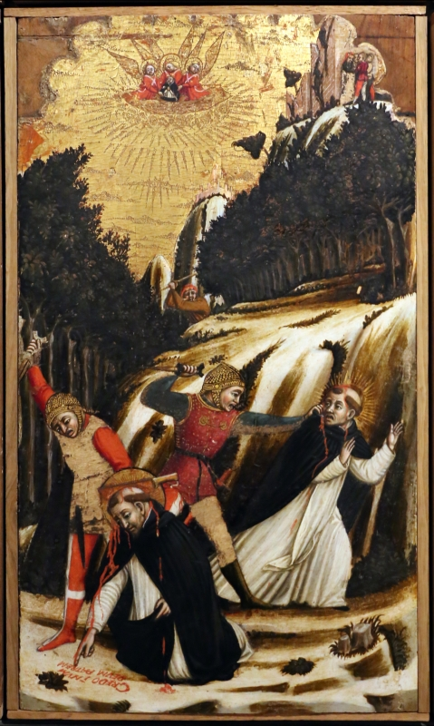 Agnolo e bartolomeo degli erri, polittico di san pietro martire, 1460-90 ca., da s. domenico a modena, 06 - Sailko - Parma (PR)