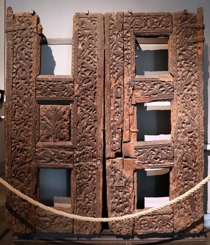 Portale di san bertoldo, in legno intagliato, dalla chiesa di s. alessandro a parma, x secolo 01 - Sailko - Parma (PR)