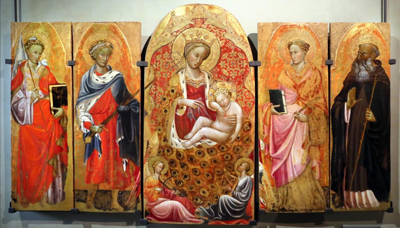 Maestro di barga, madonna col bambino, due angeli musicanti e santi, lucca 1400-20 ca. 01 - Sailko - Parma (PR)